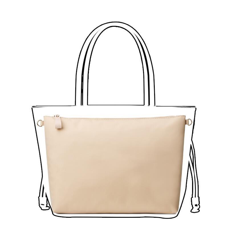 Nylon Bag Insert Organizer With Zipper Pockets Soft Light Perfect Purse Organizer To Keep Everything Neat Bolsa De Maquiagem