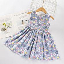 w l monsoon brand children s clothing girls dress europe and america floral children pleated princess dress cotton girl dress Girl Princess Dress New Summer Kid Girls Dress Floral Sweet Children Party Wedding Suits Costume Children Clothing New 2020
