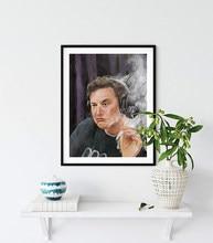 Poster en toile de musc Elon convient à la décoration de chambre de dortoir d'université et aux affiches cool pour hommes | Drôle d'université p