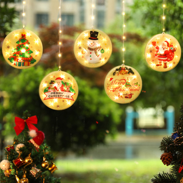 New Christmas Decoration LED Light Decoration For Christmas Tree Window Door Curtain Lights Bedroom Festival Decor Lamp 2