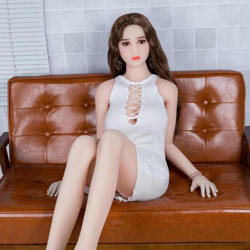 Muñeca del sexo 158cm realista de silicona muñeca del sexo grandes pechos vida TPE Eva muñeca para adultos Vagina Oral Real Vagina Real pecho grande culo grande muñeca
