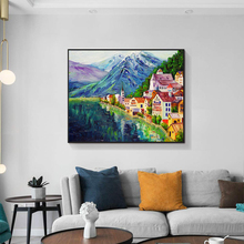 Laeacco Oil Painting Landscape Canvas Painting Home Wall Decor For Living Room Decoration Wall Art Picture Posters and Prints laeacco sea marine fish sunshine posters and prints canvas painting wall art picture home decor living room decoration