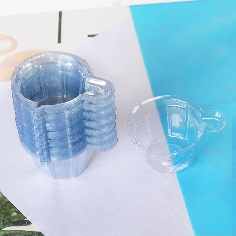100 шт., одноразовые пластиковые бриллианты 40 мл, Набор форм для силиконовой смолы «сделай сам», инструменты для изготовления ювелирных издел...