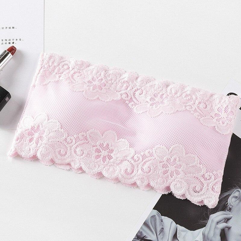Sexy Strapless Bras Tube Tops Women Underwear Solid Lace Padded Bra Crop Tops Bustier Beachwear Lingerie Intimates 3