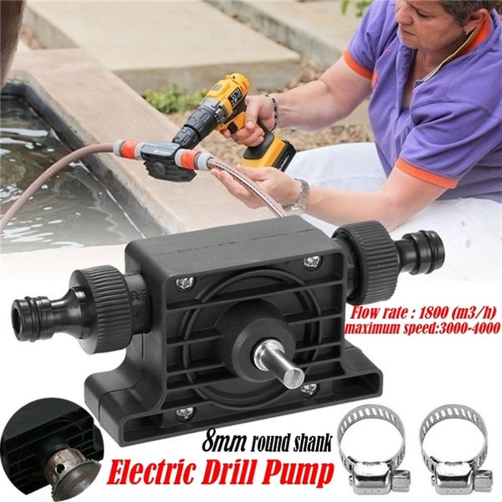 1PC Portable Electric Drill Pump Sinks Shank For Electric Hand Drill Oil Fluid Water Pump  Aquariums Pool Self-Priming Pump