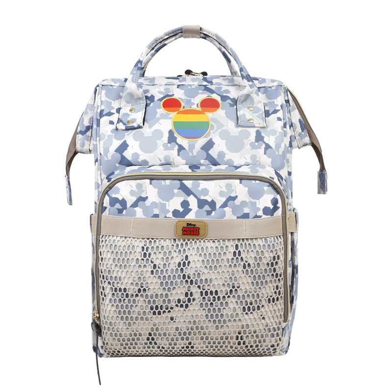 Disney Mommy Waterproof Diaper Bag Camouflage Bottle Feeding Insulation Bags USB Heater Backpack Baby Bags For Mom Storage Bag