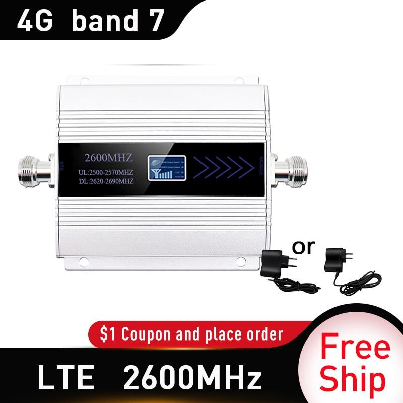 2600 МГц LTE 4G Сотовый мобильный усилитель сигнала 4G (FDD Band 7) повторитель сигнала для сотового телефона 65dB LTE 4G усилитель Россия