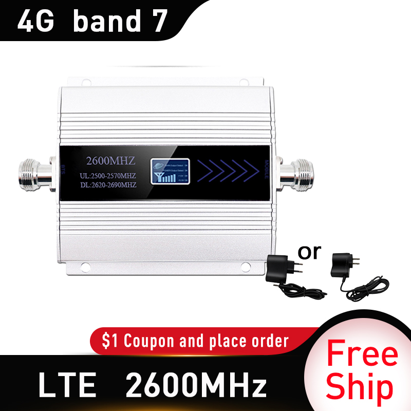 2600Mhz LTE 4G Cellular Mobile Signal Booster 4G (FDD Band 7) Cell Phone Signal Repeater 65dB LTE 4G Amplifier Russia