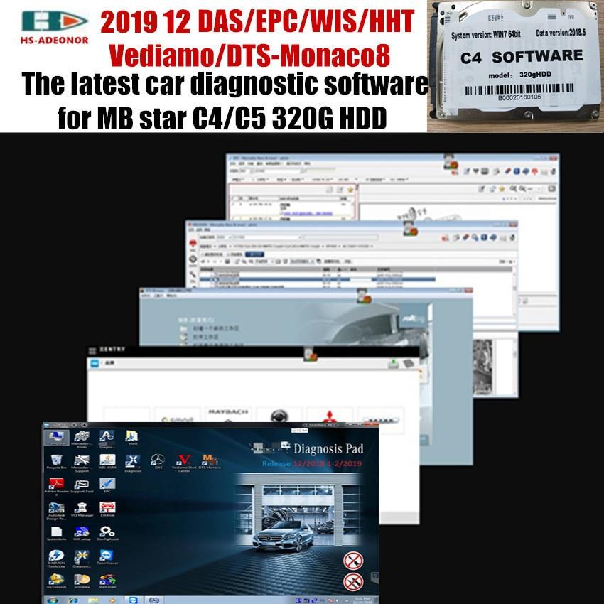 The latest car diagnostic software 2019 12 DAS/EPC/WIS/HHT