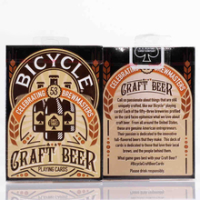 1 deck Bicycle Cards Craft Beer Playing Regular Deck Rider Back Card Magic Trick Props