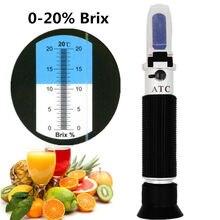 El Brix refraktometre bal meyve şeker solüsyonu Brix 0-20% optik konsantrasyon şeker ölçüm cihazı 30% kapalı