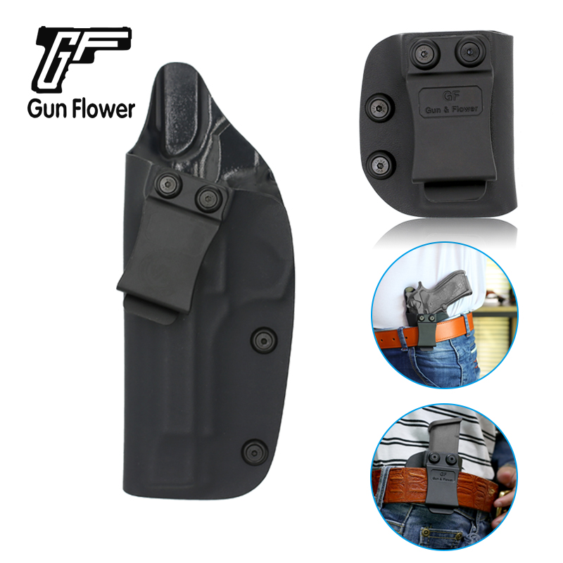 OWB Leather Quick Draw Right Hand Paddle Holster Fits GLOCK 21