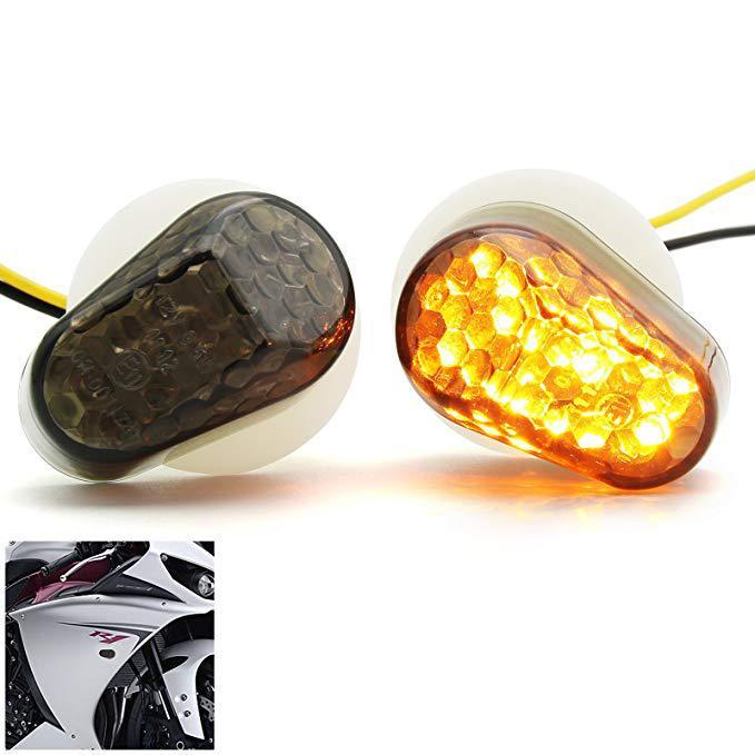 USUN 4pcs 15 LED Universal Motorcycle Motorbike Turn Signal Indicator Amber Light Lamp 12V