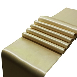 Image 2 - 10 pièces/ensemble 30x275cm Jacquard Style Satin chemin de Table pour hôtel Table décoration mariage fête réception Table coureurs nappe