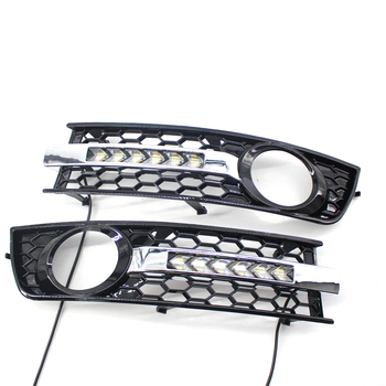 Car Fog Lights 1 pair Exterior 1200LM 12V Running With Grille For A4L B8