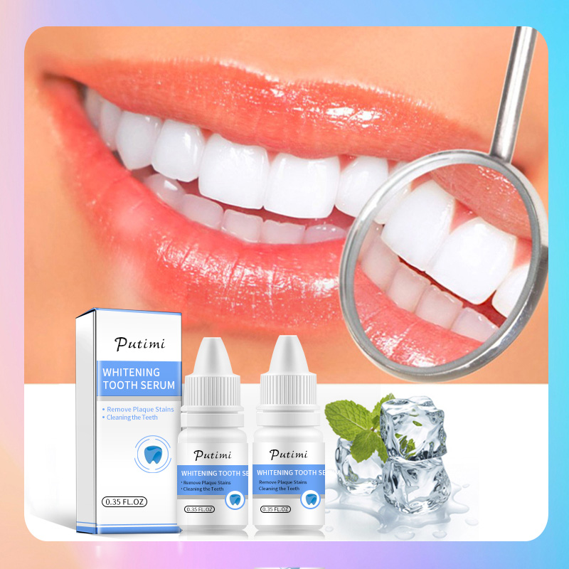 Teeth Whitening Serum Powder Oral Hygiene Cleaning Essence Removes Plaque Stains Brighten Tooth Bleaching Dental Tool Toothpaste