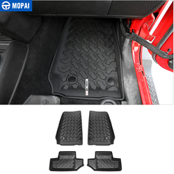 MOPAI Floor Mats for Jeep Wrangler JK Car Foot Mats Pads Antislip Liner Carpets Accessories for Jeep Wrangler JK 2007+ 2 Door
