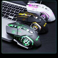 3200DPI regulowana bezprzewodowa optyczna mysz do gier Cool Pro Gamer mysz do gier LED myszy komputerowe odbiornik USB mysz do laptopa PC