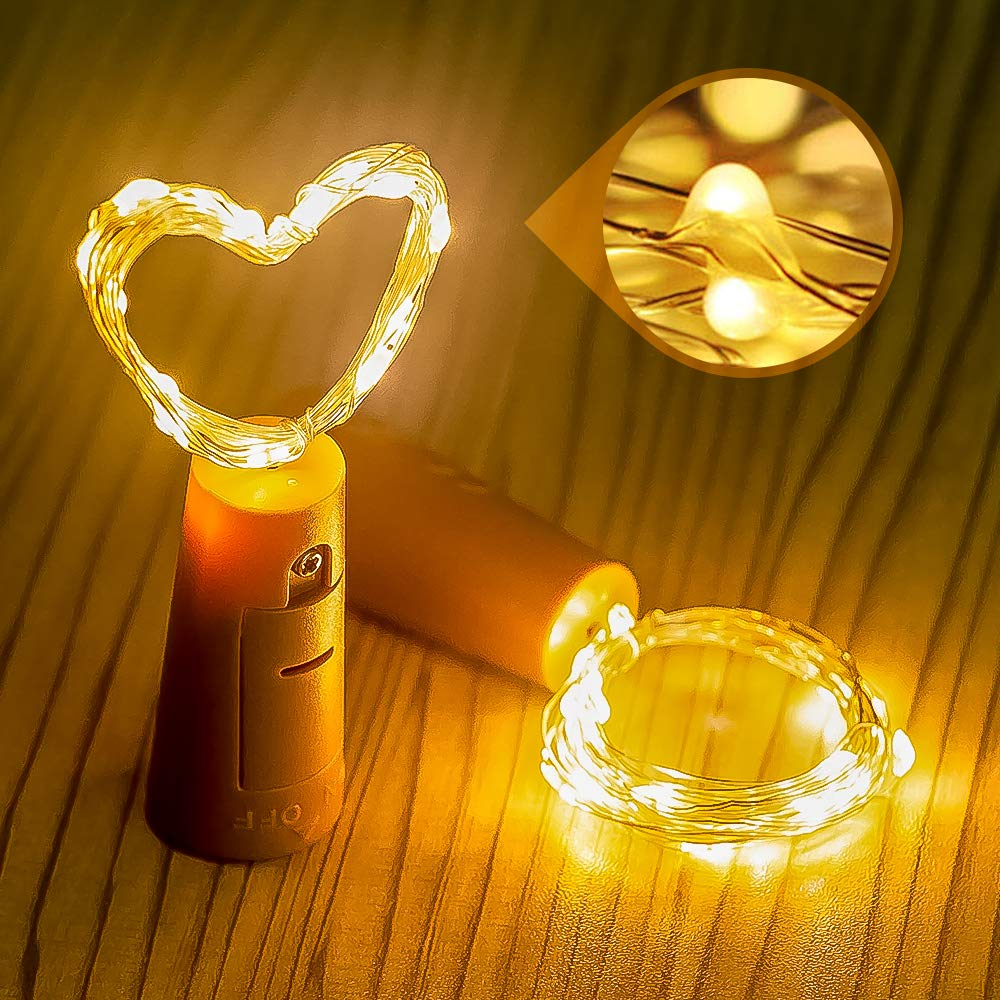 Colorful LED Wine Bottle Light Waterproof LED String Lights Holiday Light Chain For Christmas Party Wedding Outdoor Decoration