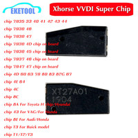 Xhorse vvdi 슈퍼 칩 트랜스 폰더 xt27 키 복사 복제 id46/40/43/4d/8c/8a/t3/47/41/42/45/id46 vvdi2 vvdi 키 도구 10pcs
