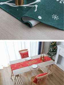 Christmas Tablecloth Cabinet-Cover Linen Dining-Table Cotton New-Year Household TV Etercycle