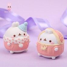 Model-Doll Blind-Box Guess-Bag Anime Figures Rabbit MOLANG Toys Cute Car Desktop-Ornaments