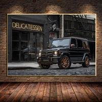 Pintura en lienzo de vehículo, carteles e impresiones de imágenes artísticas de pared modernas para decoración para sala de estar sin marco, Clase G, Mercedess