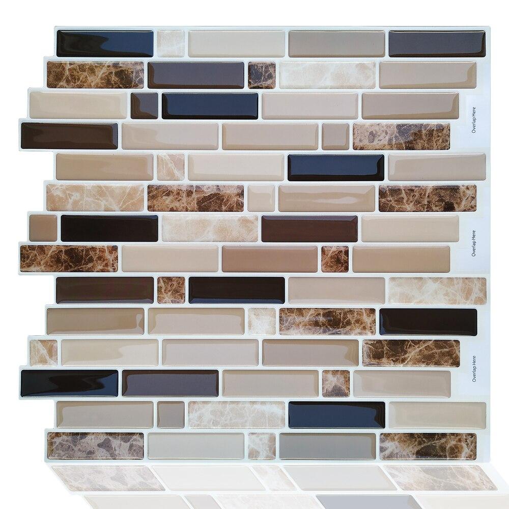 Self Adhesive Mosaic Wall Sticker Kitchen Home Decor Vinyl Bathroom Stickers Tiles