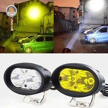2 pçs 20 w faróis led trabalho luz spotlight 6000 k led condução nevoeiro lâmpada offroad caminhão do carro trator da motocicleta 12 v 24 v