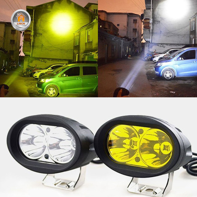 2Pcs 20W LED Headlights LED Work Light Spotlight 6000K LED Driving Fog Lamp Offroad Car Truck Motorcycle Tractor 12V 24V