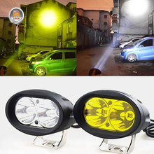 2Pcs 20W LED פנסי LED עבודה אור זרקור 6000K LED נהיגה ערפל מנורת Offroad רכב משאית אופנוע טרקטור 12V 24V