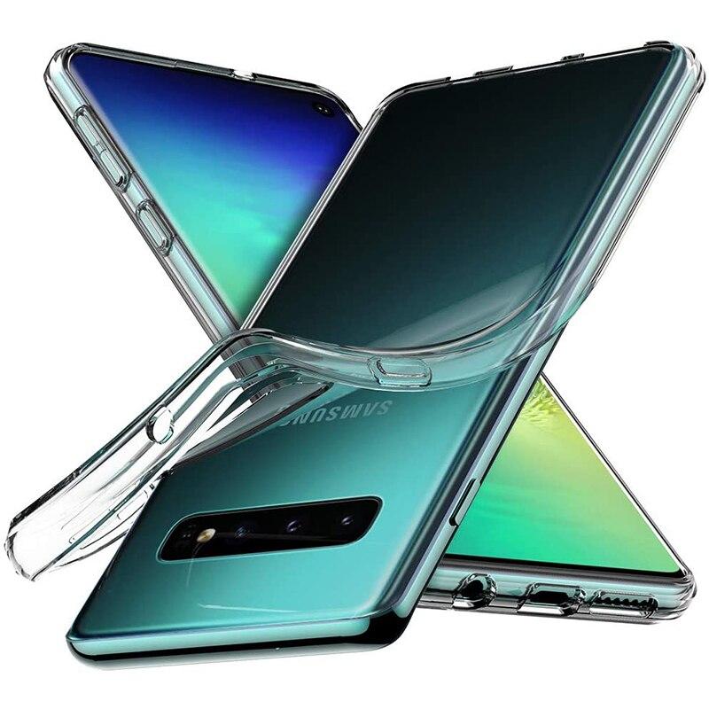 Роскошный прозрачный силиконовый чехол для Samsung Galaxy S10 Plus S10E, ультратонкий прозрачный мягкий чехол для Samsung S10 5G Lite, противоударный