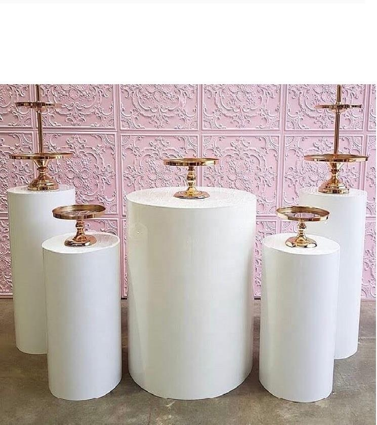 Round Cylinder Pedestal Display Art Decor Plinths Pillars For DIY Wedding Decorations Holiday