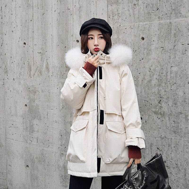 2019 Повседневный женский пуховик, модная свободная плотная рабочая одежда, приталенная зимняя куртка, женские пуховики, пальто размера плюс