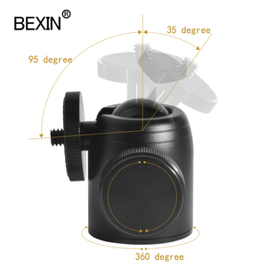 Image 4 - Panoramic 360 Degree Rotation Swivel dslr Camera tripod Head adapter Tripod Mount ballhead Mini Ball Head for Canon Nikon sony