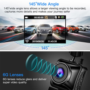 Image 5 - WonVon M5B Car Dash Camera 145° LCD 2.0MP Sony IMX307 IR Night Vision WiFi Dash Cam HD 1080P Dual DVR G Sensor Loop Recorrding