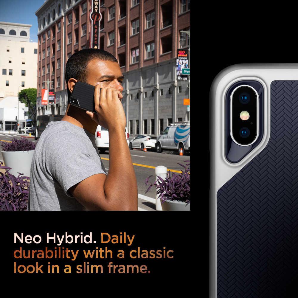 100% original spigen neo híbrido caso para iphone xs/iphone x MIL-STD-810 queda resistência anti-deslizamento híbrido casos