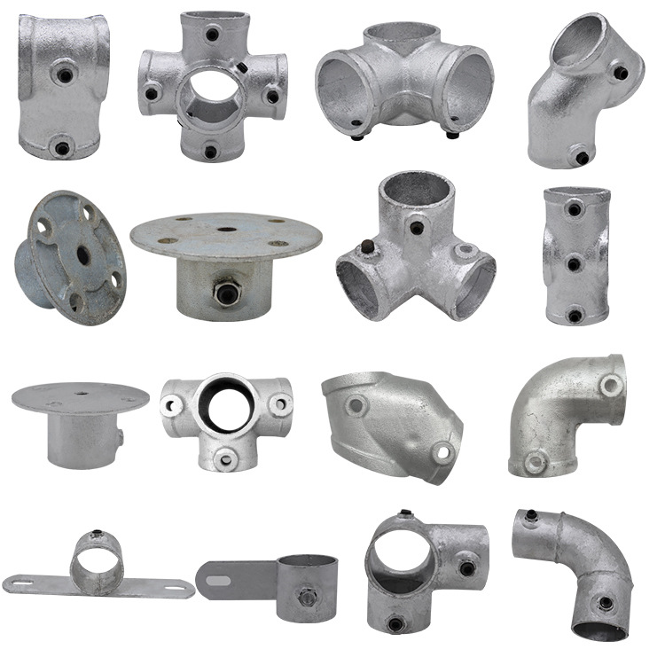 Stairs Guardrail Accessory And Edge Protection Pipe Fitting Cast-iron Base 48 Tube Profession Naughty Fort Fastener Large Amount