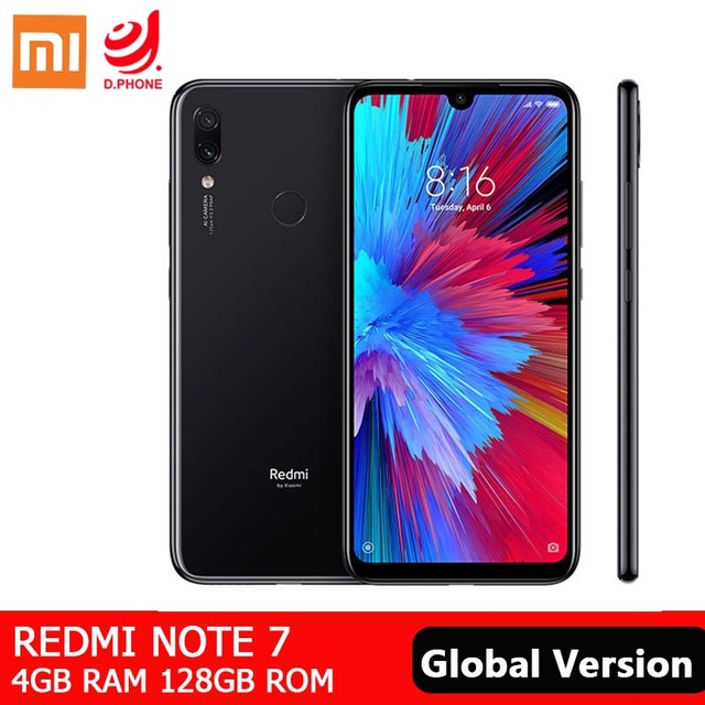 "Global Version Xiaomi Redmi Note 7 4GB 128GB Smartphone Snapdragon 660 AIE Octa Core 6.3"" Full Screen 48MP Rear Camera Cellphone"