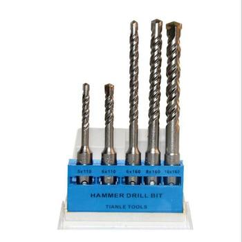 цена на 5pcs Carbide Electric Hammer Drill SDS-PLUS Cement Slot Cement Bit Reinforced Concrete Drill Bit