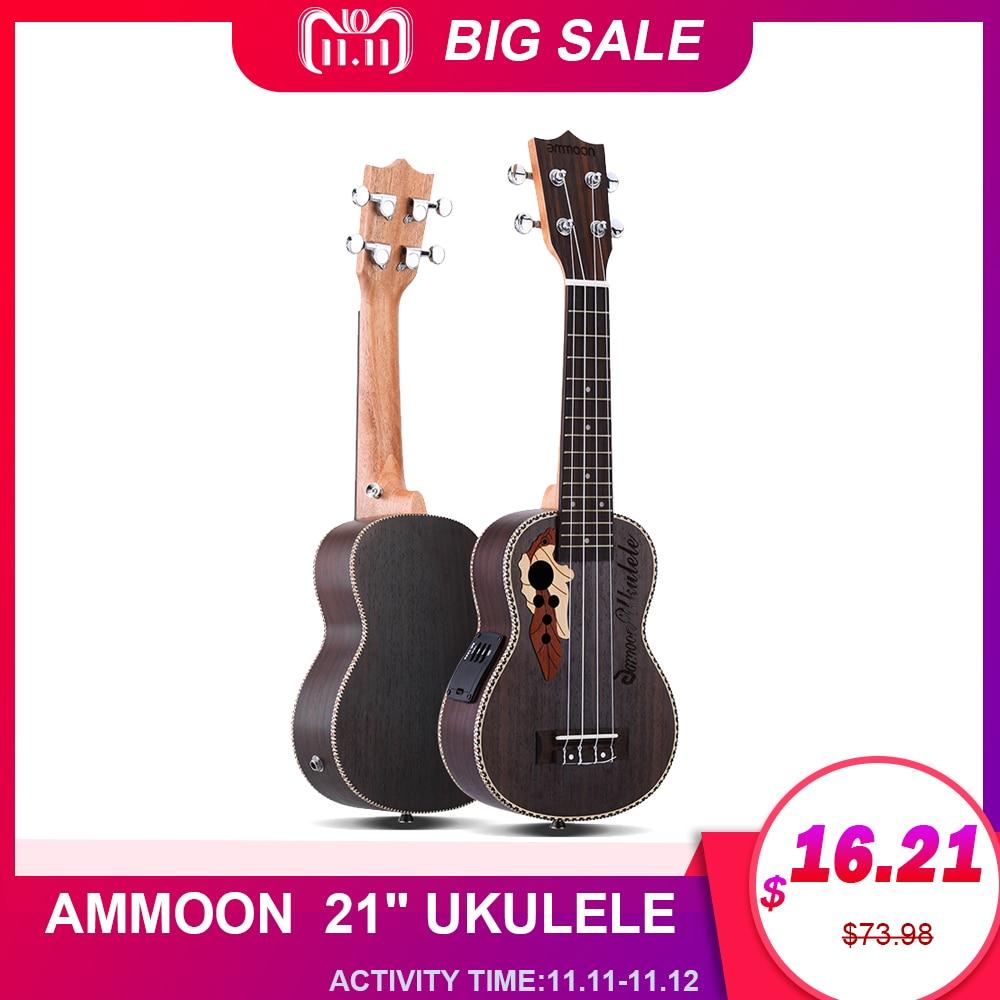 """Ammoon Series Ululele 21"""" Ukulele Set 15 Fret 4 Strings Stringed Musical Instrument 19 Styles Ukulele Guitar Musical Instrument"""