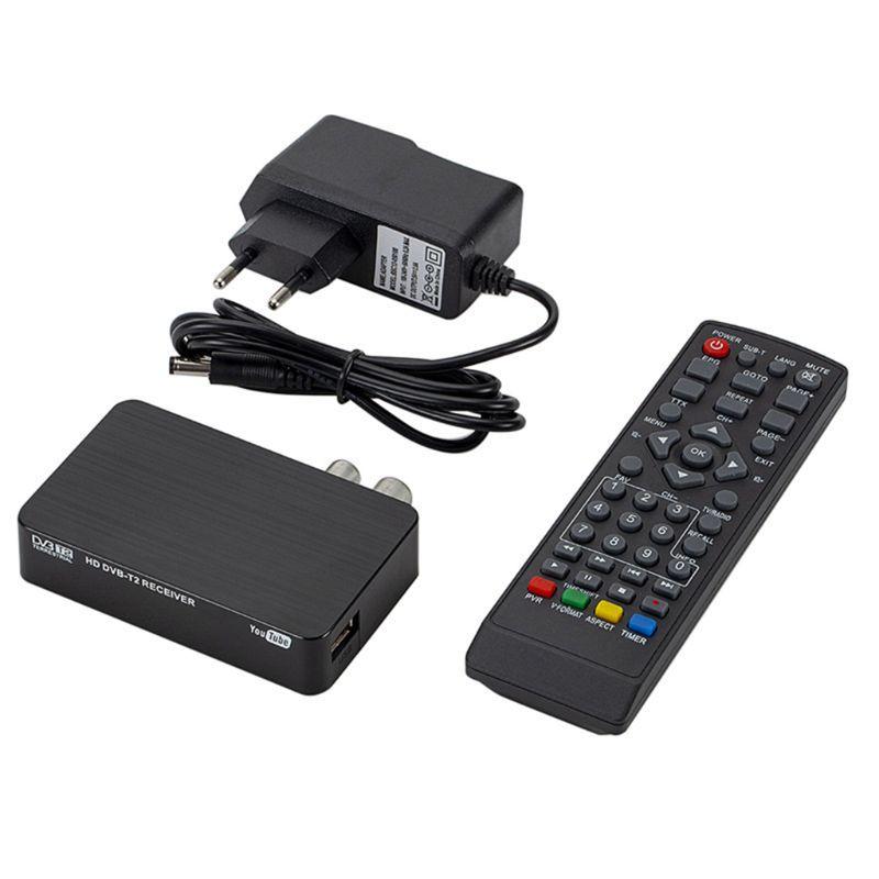 Mini K2 TV Receiver DVB-T2 DVB-T H.264 FHD Terrestrial Digital Decoder TV Tuner Set Top Box For Monitor Support PVR Wifi Antenna