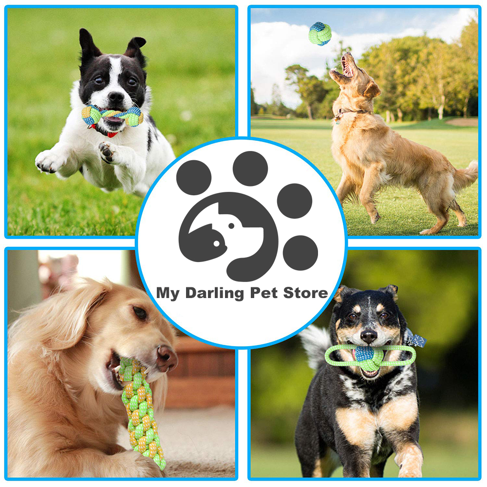 7 Pack Pet Dog Toys for Large Small Dogs Ball Toothbrush Interactive Dog Toys Christmas Products for Dogs Chew Toy Accessories
