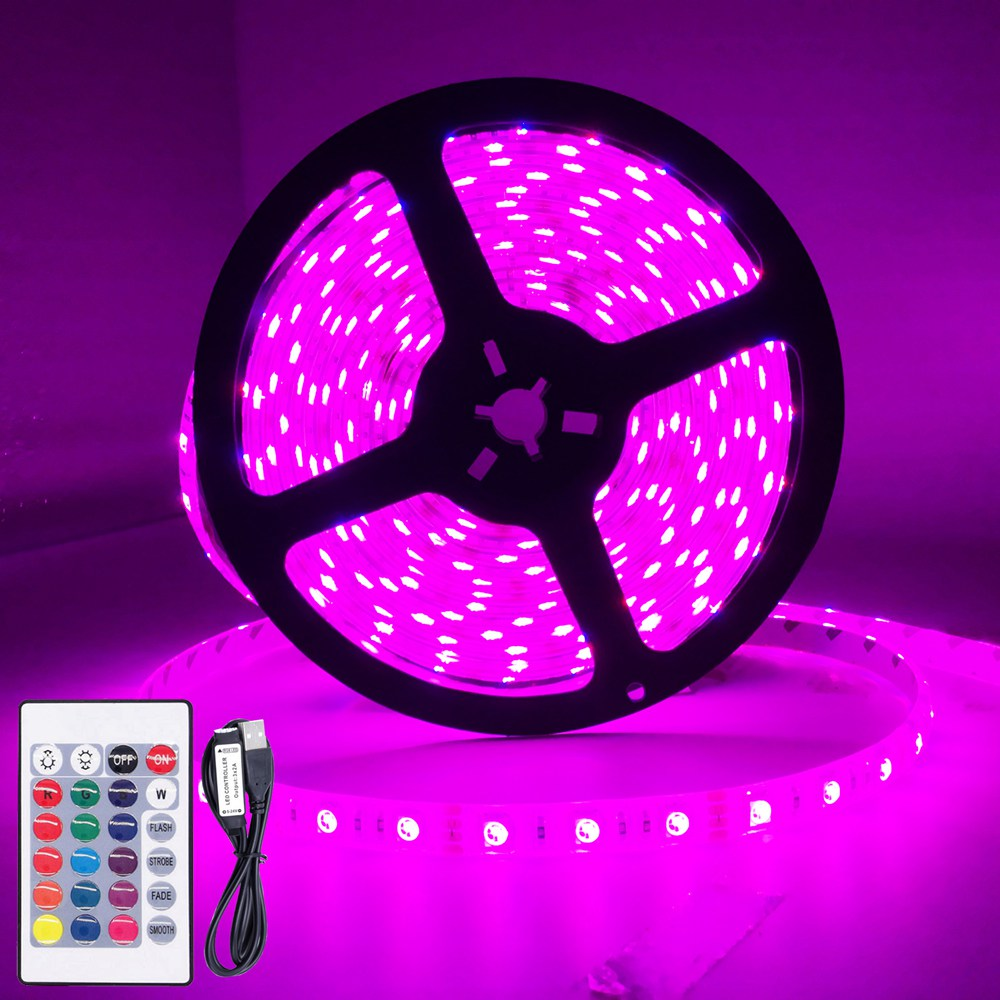 <font><b>USB</b></font> Led Strip RGB <font><b>5050</b></font> Light Waterproof Color Changing TV Led Back Light For Home Decoration and Chrismas Lights DC12V image