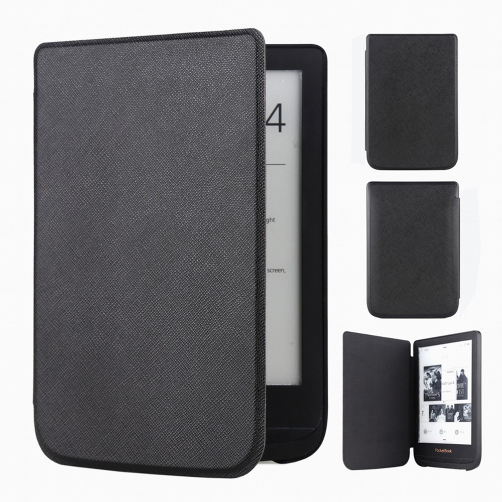 Slim Leather Cover Case for <font><b>Pocketbook</b></font> Touch Lux 4 627 HD3 632 Basic2 <font><b>616</b></font> Ereader +screen Film Free Shipping image