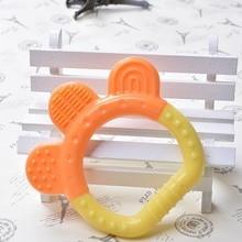 Baby Newborn Teething Toys BPA Free Soft Silicone Patchwork Cute Shape muli-Colo