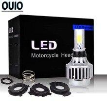 M3 Mini H4 LED Motorcycle Headlight Bulbs 30W 6500K Motorbike Scooter Headlamp Lightings for Most Car Led Lamp 12V Fog Light