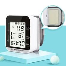 Bilek kan basıncı monitörü tansiyon aleti dijital tonometre İngilizce sesli otomatik elektronik kalp yendi hızı ölçer