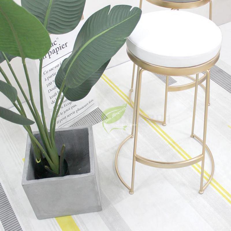Nordic Ins Wind Bar Stool Modern Simple Net Black Milk Tea Dessert Shop Cafe Bar Front Desk High Chair