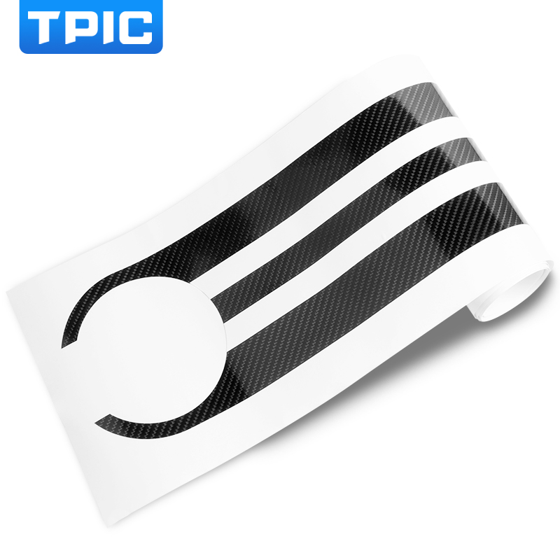 Image 5 - TPIC Car Styling Stickers Carbon Fiber Car Hood Sticker Decals M Performance Decor For BMW e90 e46 e39 e60 f30 f10 f15 e53 X5 x6-in Car Stickers from Automobiles & Motorcycles